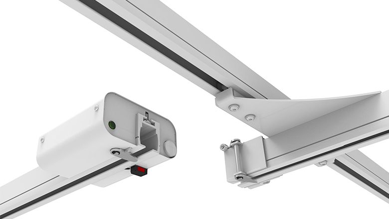 PLS patient lift systeem with hall-sensors from Sentech