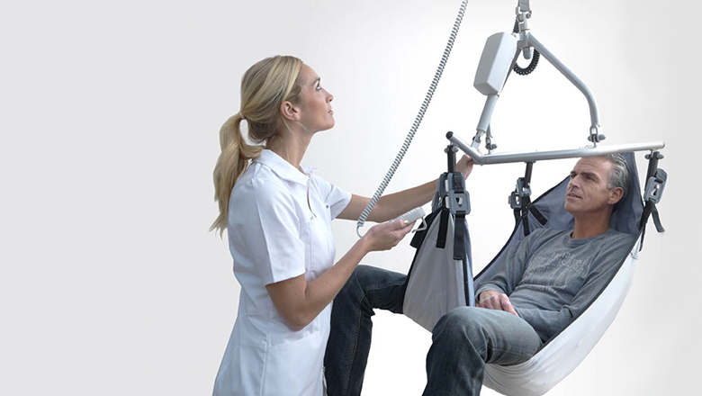 PLS lift and railsysteem for patients with Sentech sensors