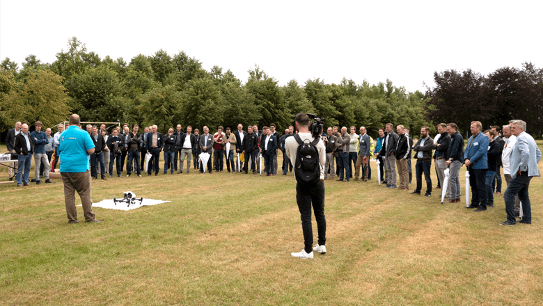 Customer Day 2018 (supply chain integration) drone flying