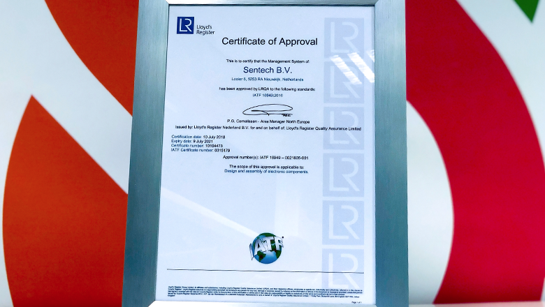 At Sentech, we work strictly in accordance with the IATF 16949 quality standard.